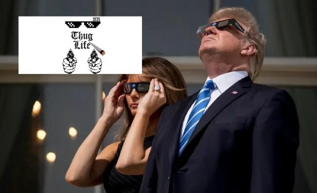 thug life meme - trump