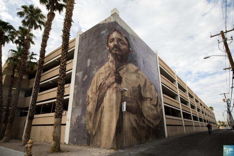 Corner by Borondo Las Vegas street art