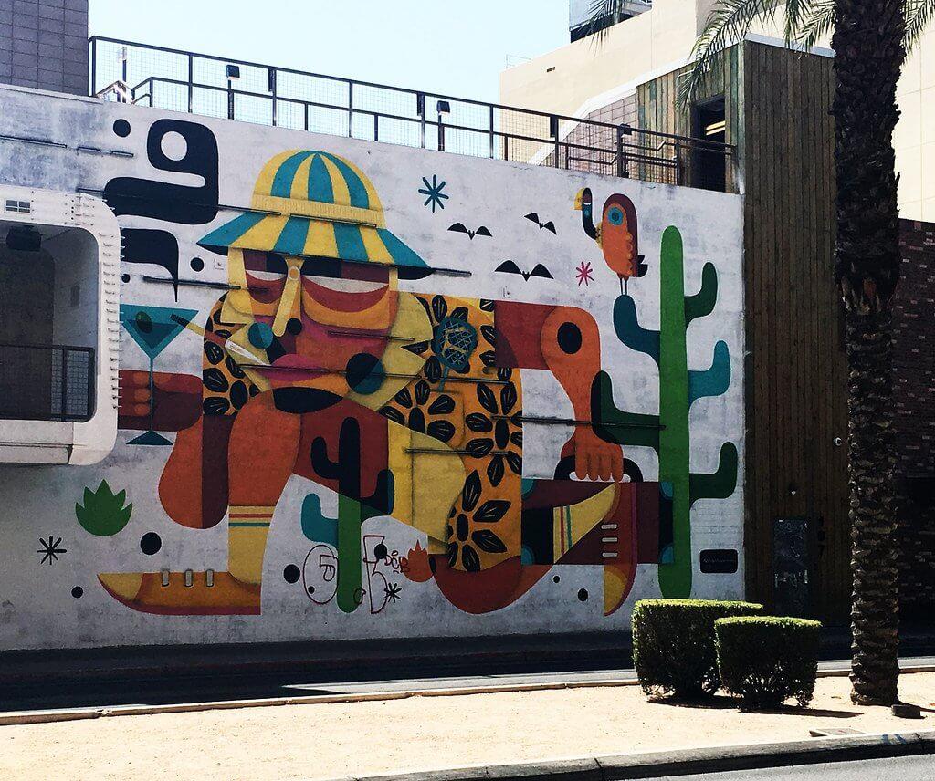 Fear and Loathing Mural in Las Vegas by Ruben Sanchez