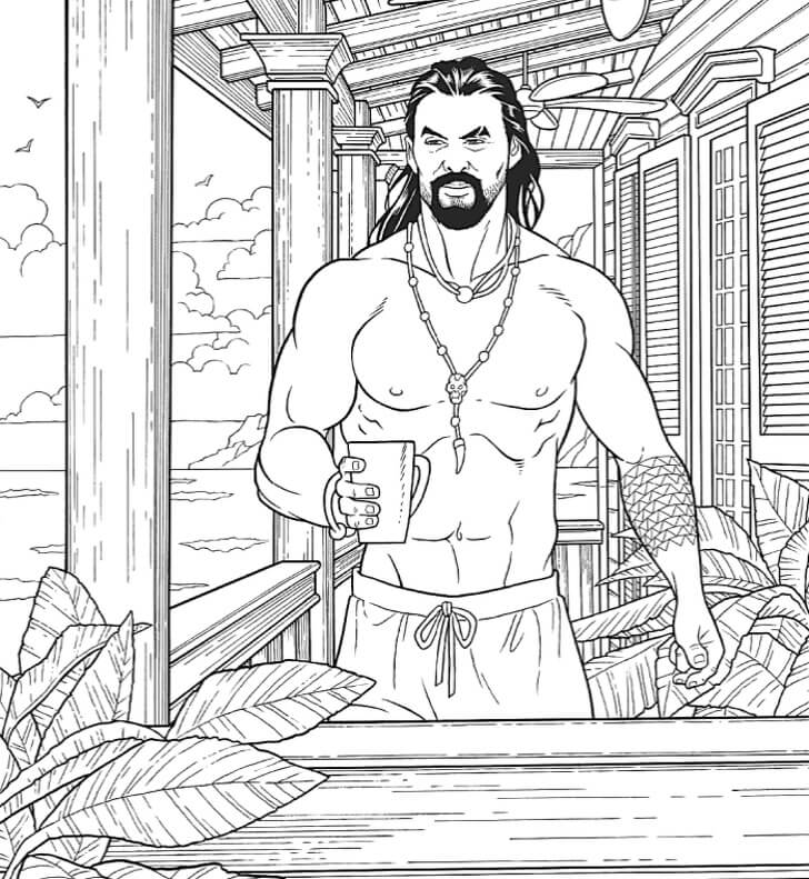 Colouring Jason Momoa's abs