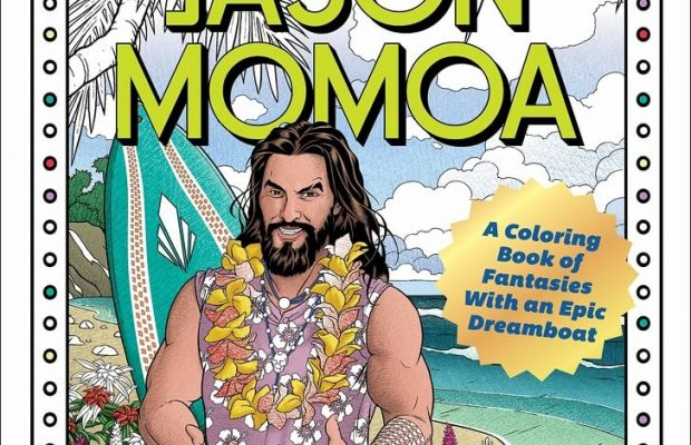 Jason Mamoa colouring book