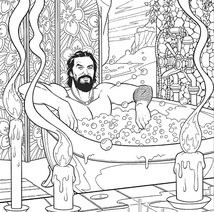 Jason Mamoa bathing