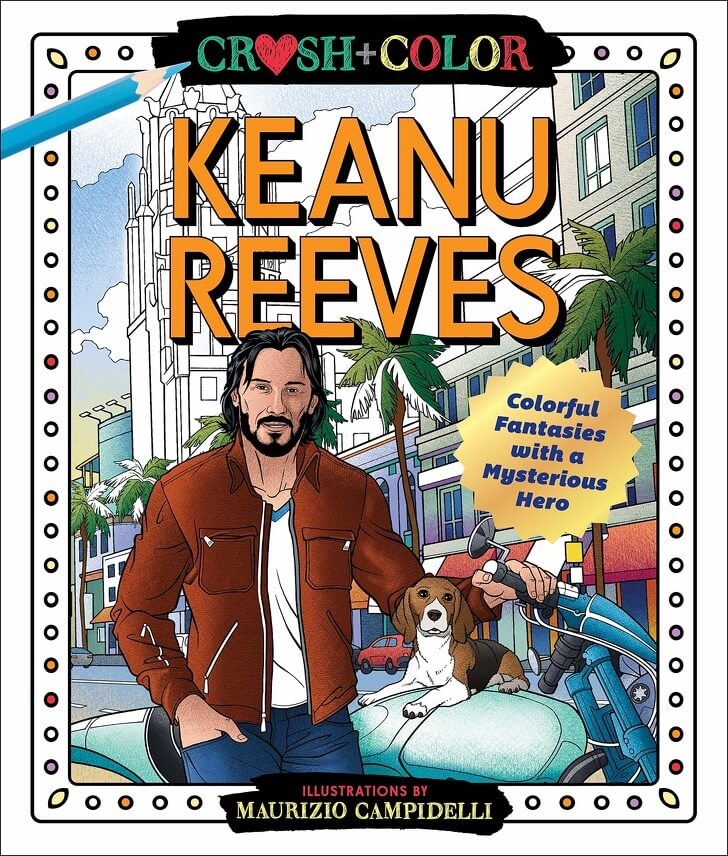 Keanu Reeves colouring book