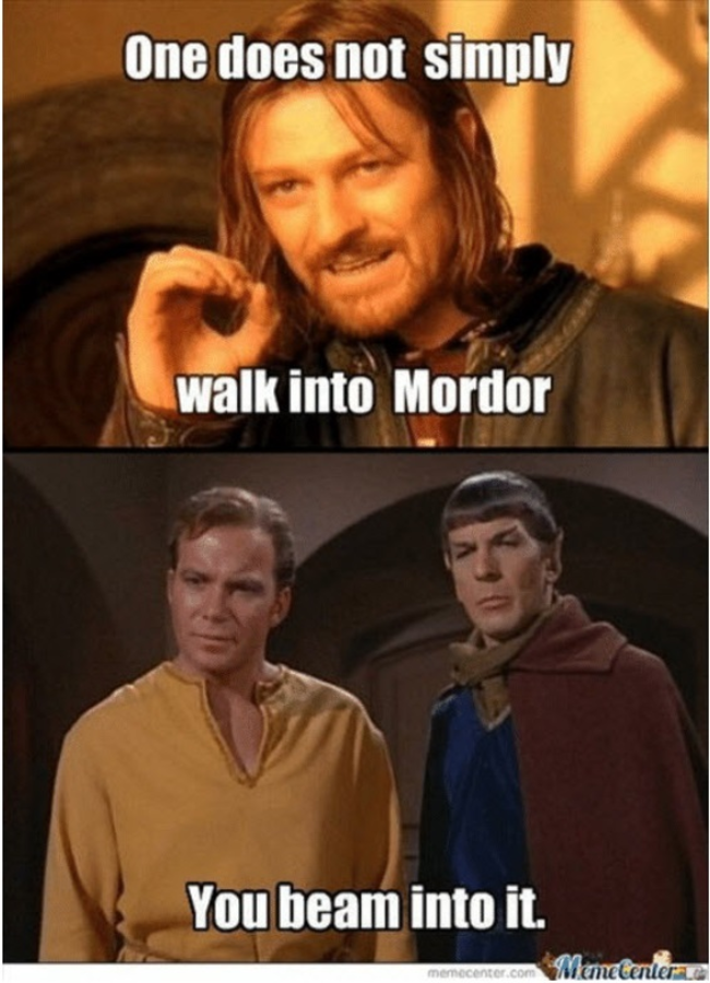 Star Trek Team Disputes Game of Thrones using the Beam from sayingimages.com