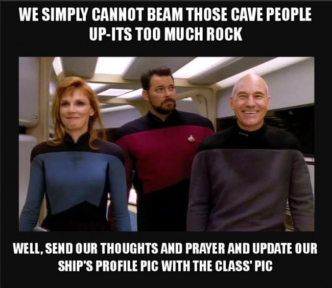 """We are in the Beam Star Trek Team"" from makeameme.org"