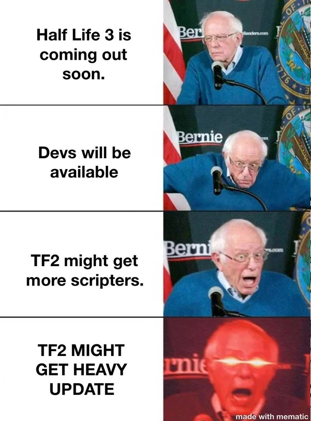 Former Senator Bernie Sanders reaction to Fortress 2 release from me.me