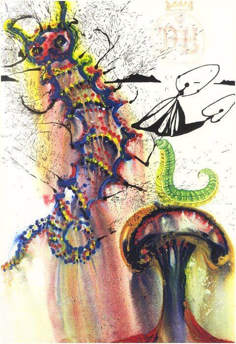 caterpillar painting
