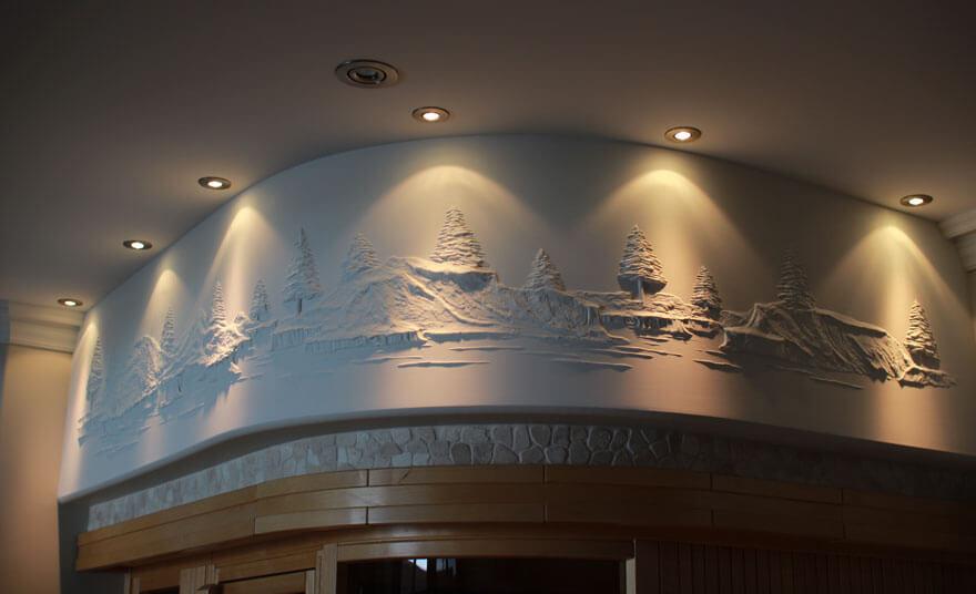 Bernie Mitchell drywall compound art