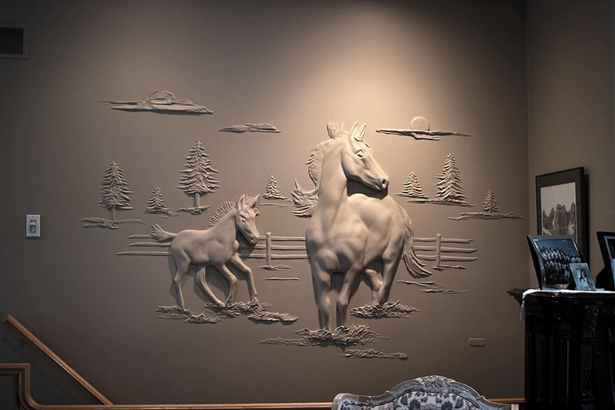 Drywall compound art