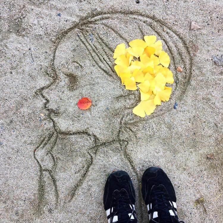falling leaves artwork