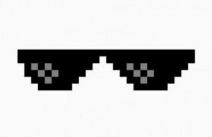 thug life glasses meme