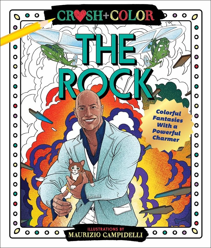 the rock colouring book