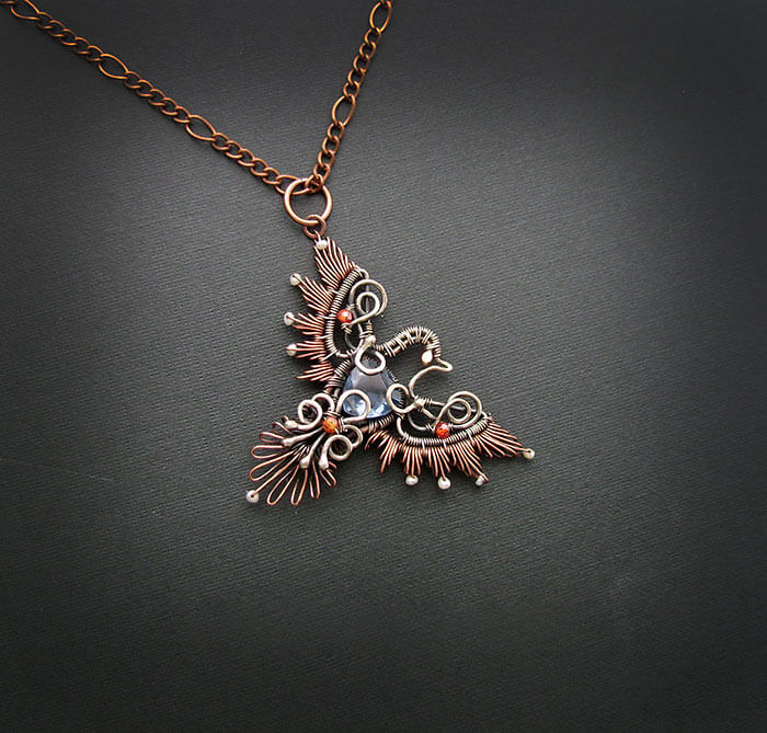 wire wrap art jewelry