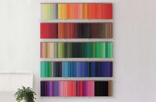 colored pencil display case