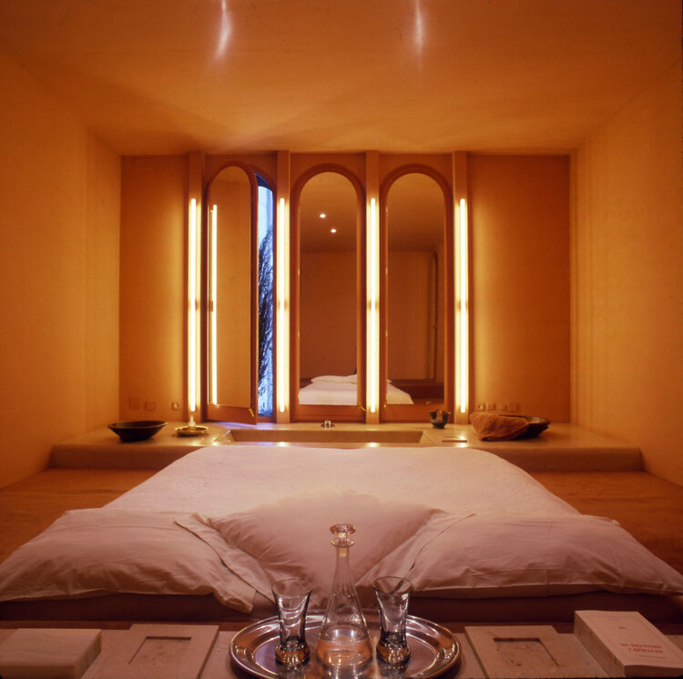 Architect Ricardo Bofill La Fabrica bedroom