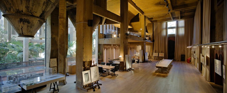Architect Ricardo Bofill La Fabrica conference and exhibition room