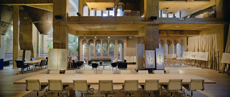 Architect Ricardo Bofill La Fabrica conference room