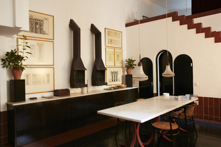 Architect Ricardo Bofill La Fabrica kitchen