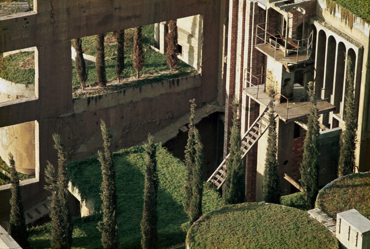 Architect Ricardo Bofill turning a cement factory into a beautiful architecture project