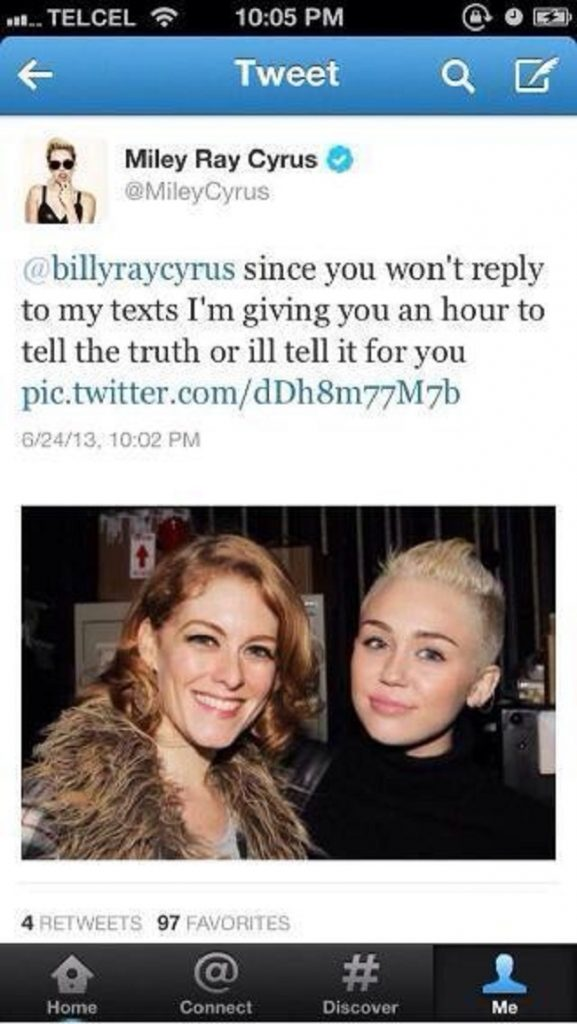 Miley Cyrus deleted tweets