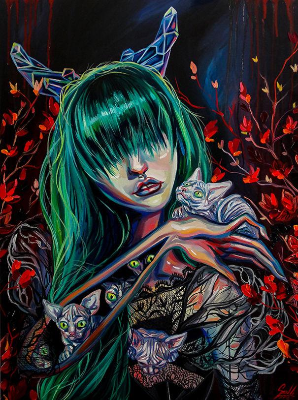 Vivien Szaniszlo zodiac signs as witches Taurus