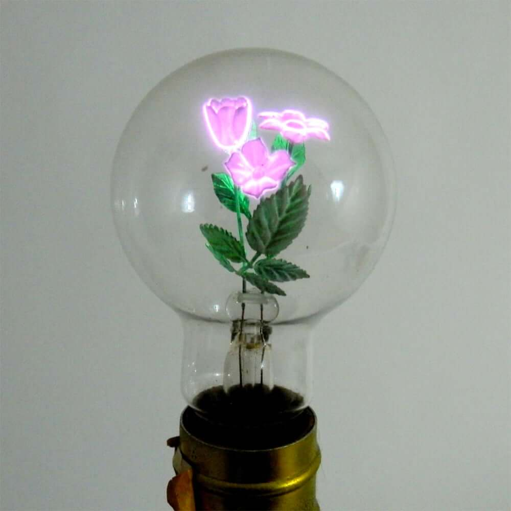 light bulb with rose inside