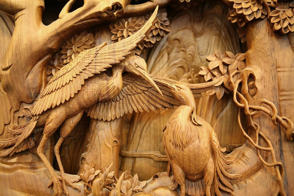 chinese wood carving art