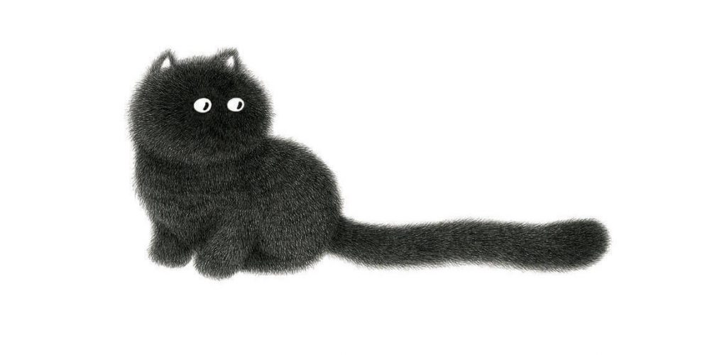 Fluffy Cat Line Art by Kamwei Fong