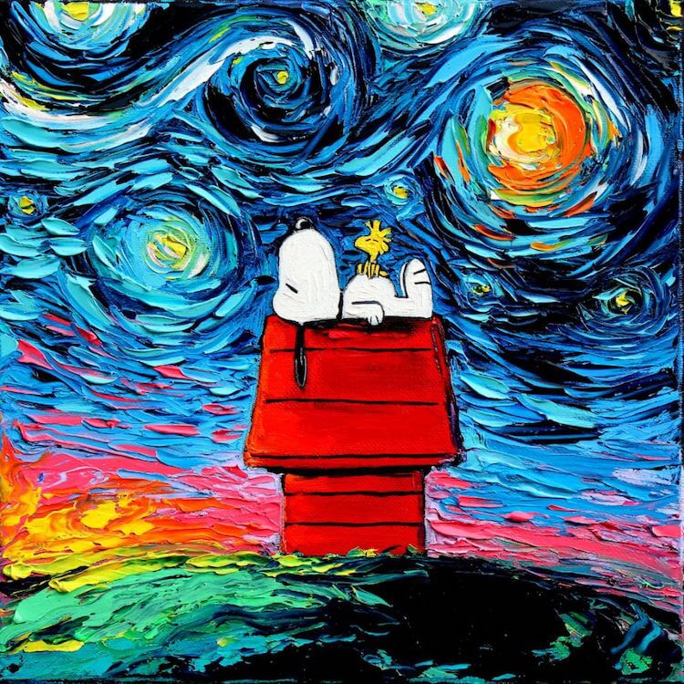 Snoopy Starry Night