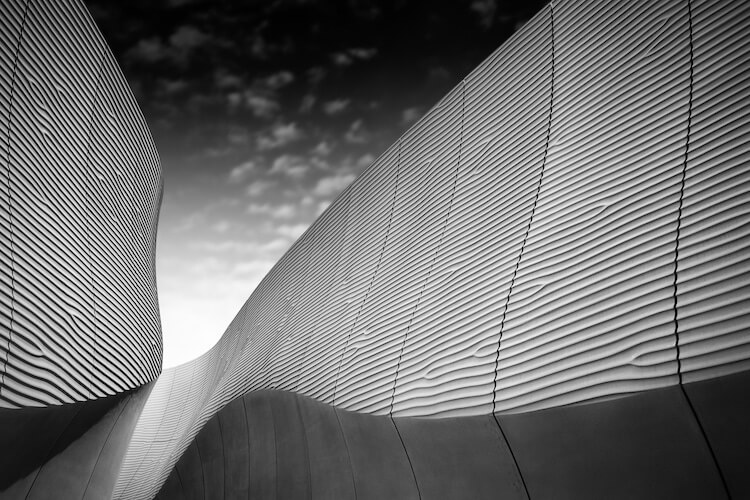 black and white architecture photos