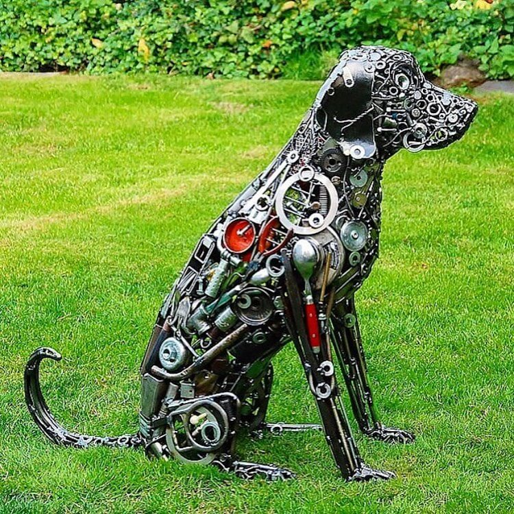 large metal animal sculptures