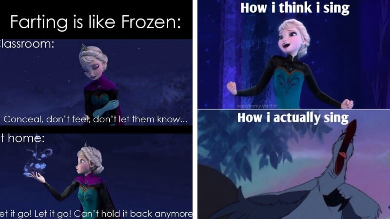 Let it Go Memes is Probably the only Disney lyric worth screaming