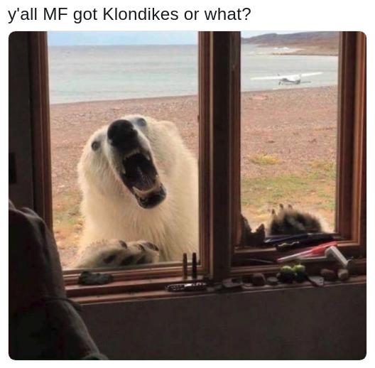 klondlike bar memes