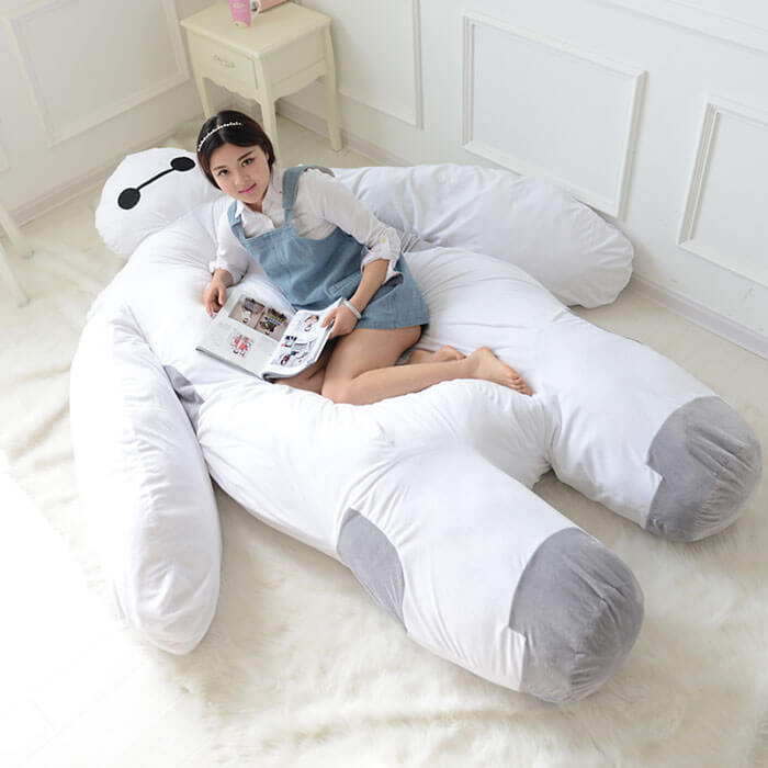 Reading on a Baymax bed