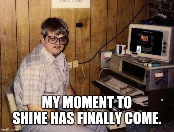 Nerd on the Computer