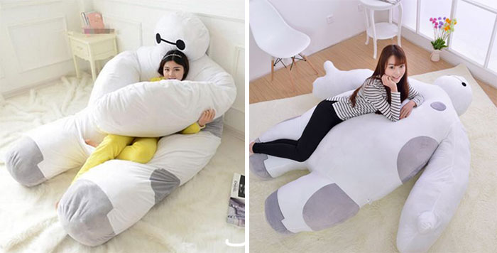A Baymax bed that hugs us as we sleep?! We want it!